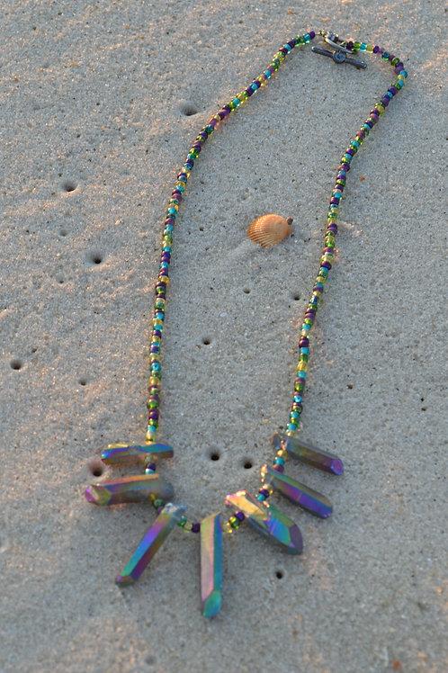 Rainbow Quartz Clasp Necklace