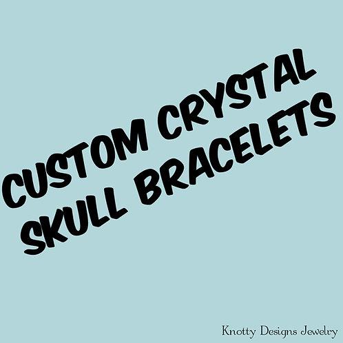 Custom Crystal Skull Bracelet