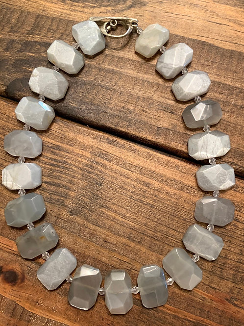 Grey Agate Collar Necklace