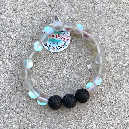Clear Moonbead Diffuser Bracelet