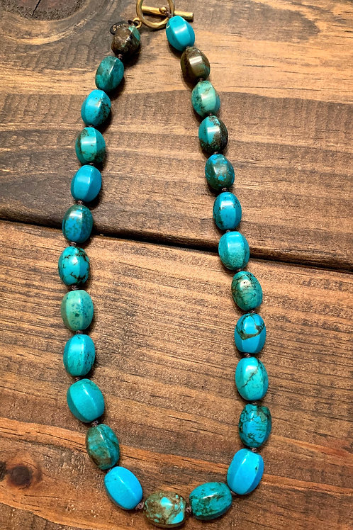 Natural Turquoise Knotted Necklace