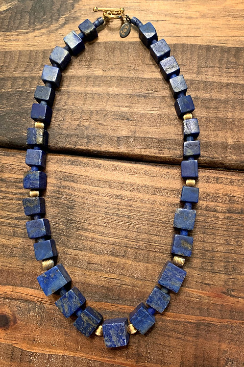 Afghan Lapis with Gold Accents