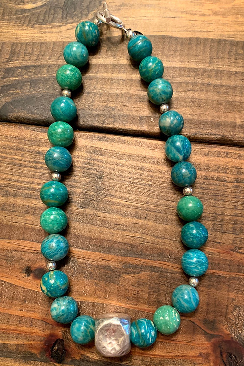 Russian Amazonite with Sterling Silver Accents