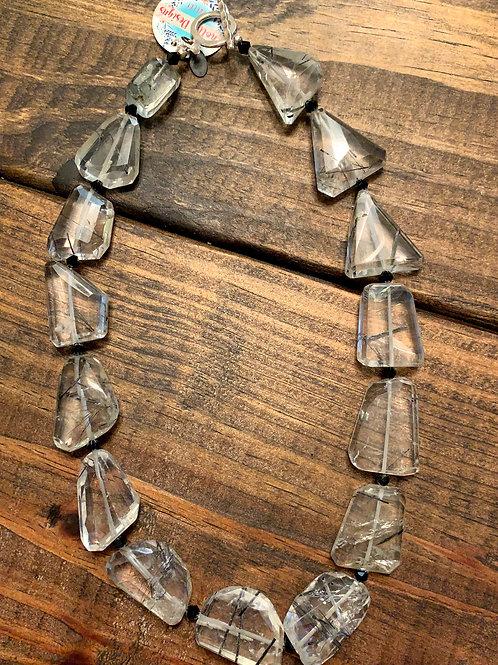 Tourmilated Quartz Necklace