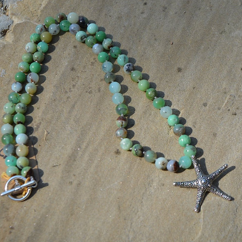 Starfish with Chrysoprase knotted