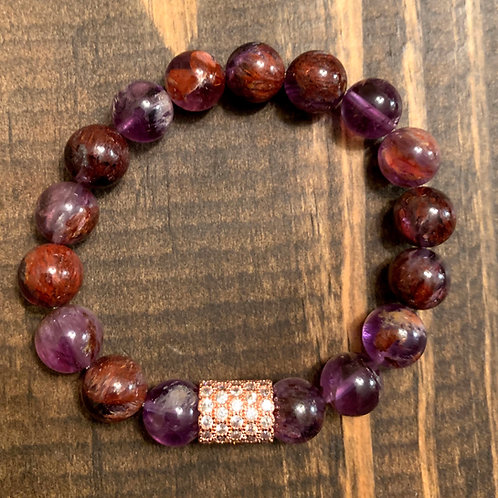 Ametrine with Rose Gold Pave Bracelet