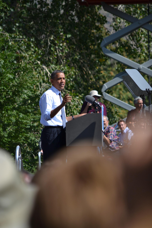 Obama in Golden, Colorado