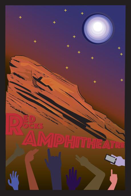 Red Rocks Amphitheatre Poster