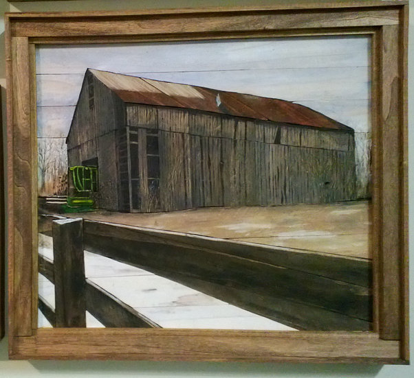 Barn with Combine