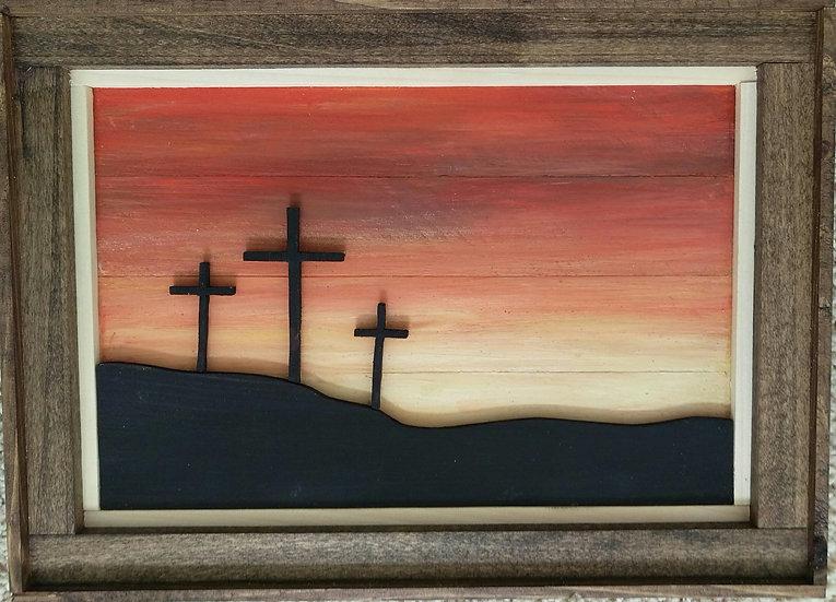 3 Crosses Silhouette