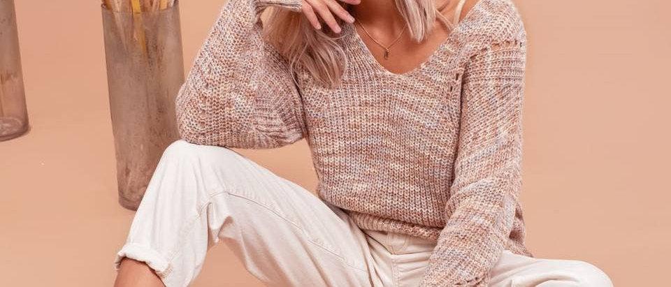 Karina Cross-Back Sweater