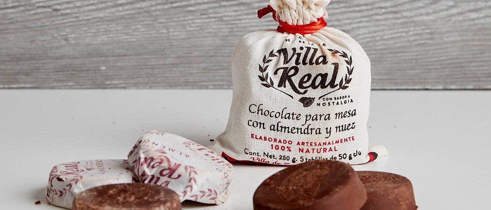 Villa Real Mexican Hot Chocolate- Almond, 5 discs