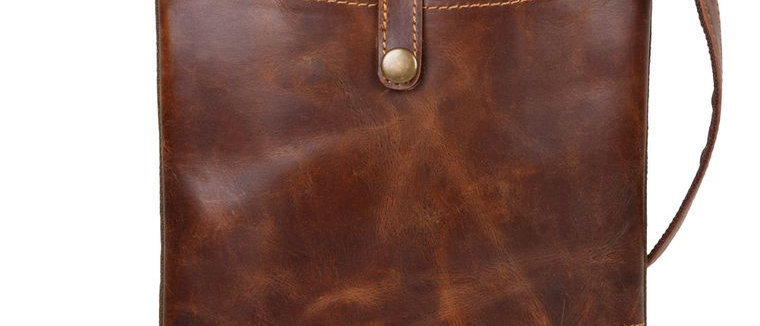 Patterson Green Crossbody - Upcycled Genuine Leather