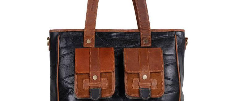 Dawson Tote - Upcycled Genuine Leather
