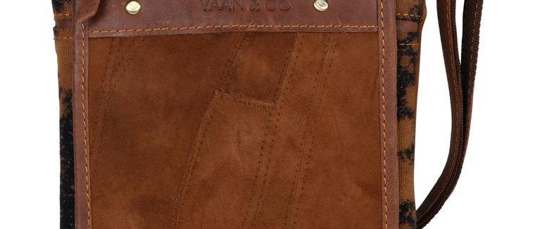 Vela Brown Crossbody - Upcycled Genuine Leather