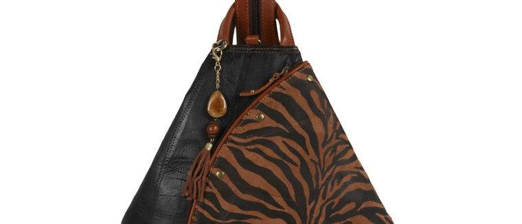 Zebra Backpack - Upcycled Genuine Leather