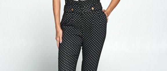 Polka-Dot Paper Bag Pants