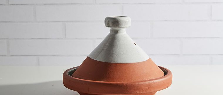 Moroccan Cooking Tagine for Two-Contemporary-White