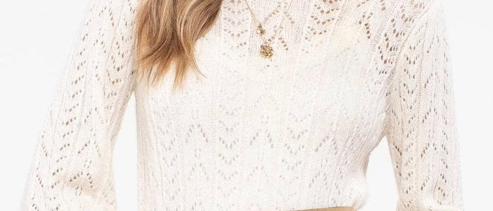 Chloe Open-Knit Sweater