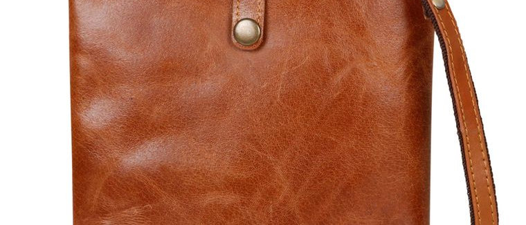 Buckled Denim Patch Crossbody - Upcycled Genuine Leather