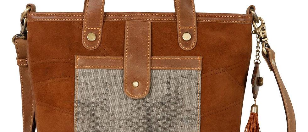 Gray Pocket Handbag/Crossbody