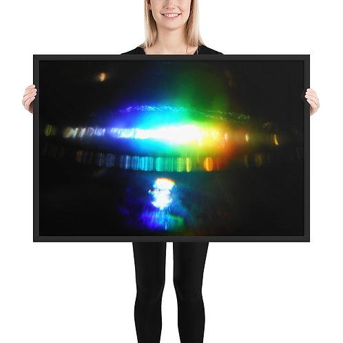"""Framed poster  """"Hadron Collision""""  DSCN 2609"""
