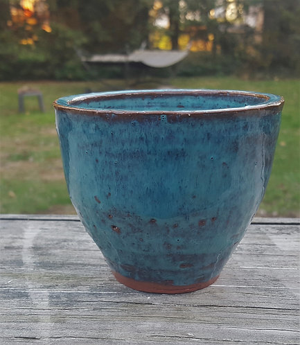 beautiful blue vessel