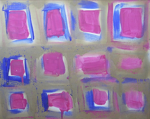 Pink,Blue and Gold by Imogen Rogers