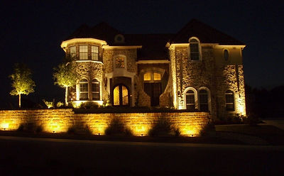 Lux outdoor lighting landscape lighting austin tx san antonio accent and showcase windmills create contrast with lighting aloadofball Image collections