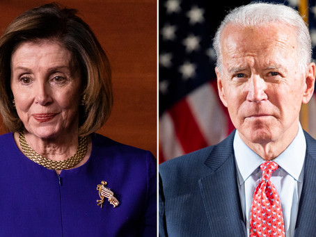 "Nancy Pelosi: ""I am proud to endorse Joe Biden for President of the United States..."""
