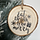 Thumbnail: Rustic 'Eat, Drink & Be Merry' log disc bauble