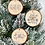 Thumbnail: Rustic 'Ho Ho Ho' log disc bauble