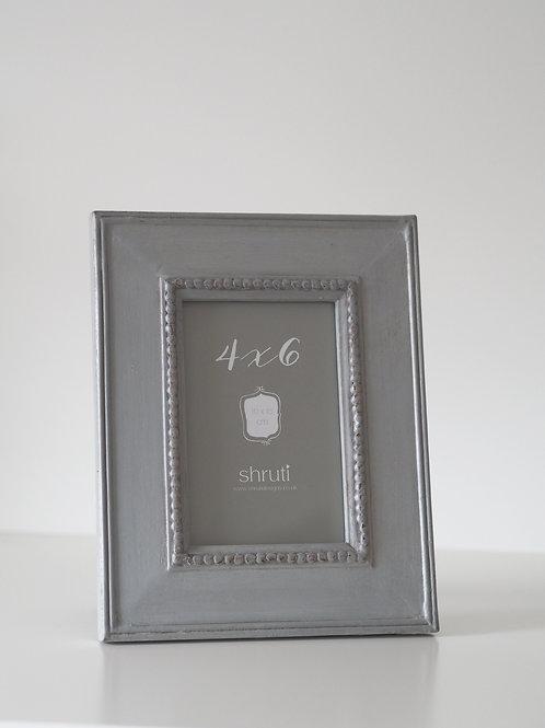 Grey vintage style photo frame