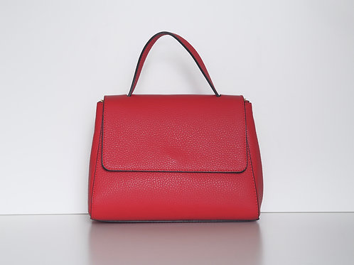 Amelia top handle leather bag (Red)