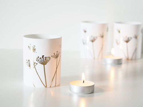 White dandelion votive