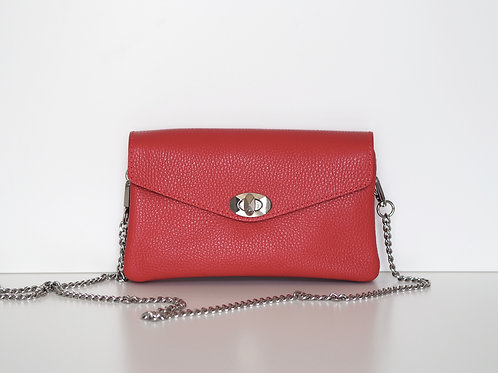 Essie leather chain bag (Red)