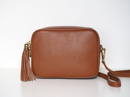 Tassel bag (dark tan)