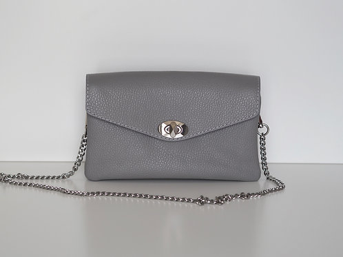 Essie leather chain bag (Grey)