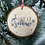 Thumbnail: Rustic 'Let it Snow' log disc bauble