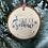 Thumbnail: Rustic 'Let it Snow' log disc bauble
