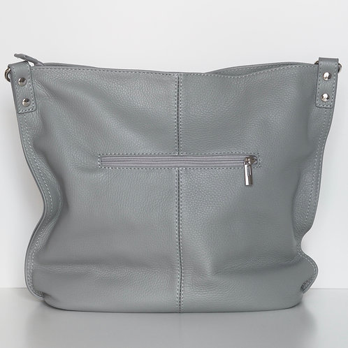 grey squashy tote front view