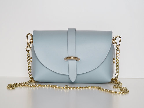 duck egg blue Emily bag front view