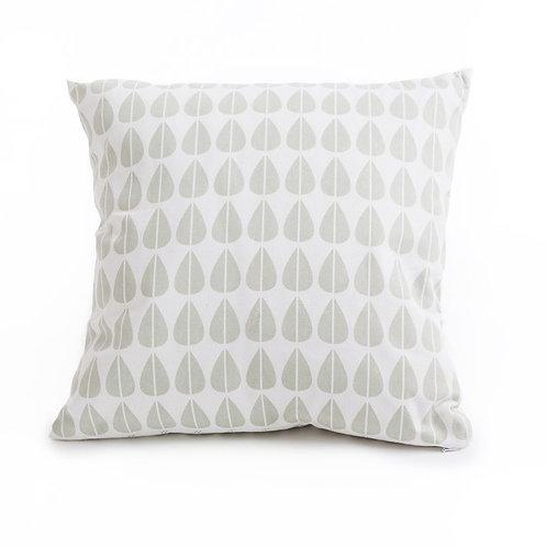 Geometric leaf grey cushion