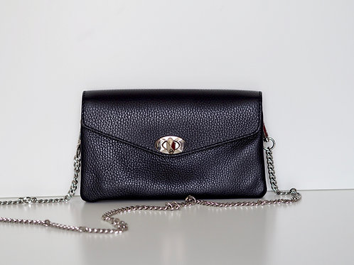 Essie leather chain bag (Black)