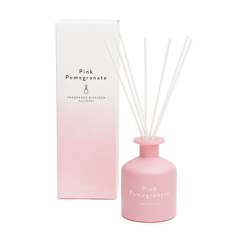 Pink pomegranate reed diffuser