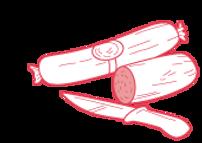 Boyaux por préparation de saucisses