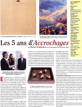 Accrochages 2003