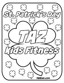 TAZ Kids Fitness St Patricks Day Colorin