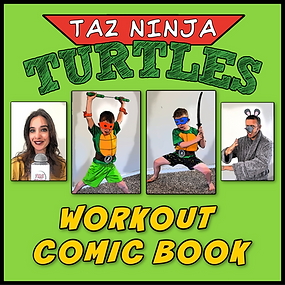 TAZ Ninja Turtles Workout Comic Book Cov
