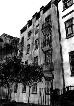 apartman arka cephe, kuzeybatı yönü